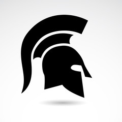 Spartnas, warrior helmet - vector icon.