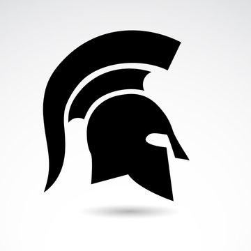 Spartnas, warrior helmet - vector icon.