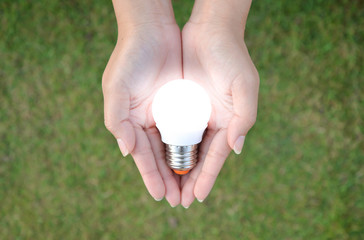 LED bulb with lighting in human - saving technology