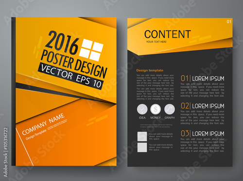 vector magazine modern flyers brochure cove annual report design