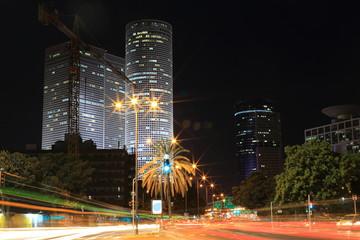 Night city - Tel-aviv, Israel.