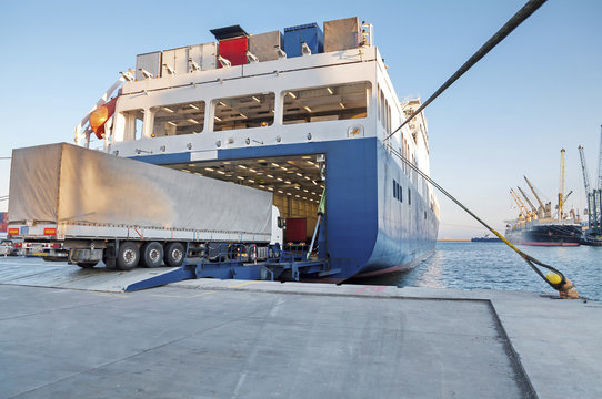 Ferry and Trucking Transportation - RO-RO Transport (Roll On/Roll Off)