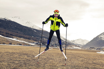 problem of globar warming and winter skiing