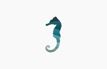 Seahorse logo. Sea logo. Water logo. Ocean logo. Beautiful logo. Wave logo design. Creative logo