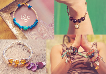 Collection of yoga bracelets