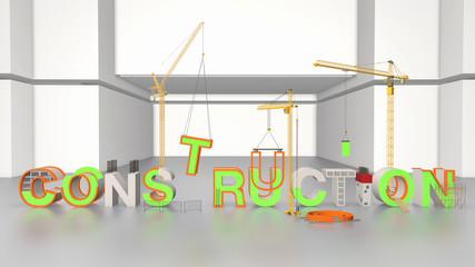 Maquette texte construction