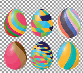 Seamless pattern with easter eggs. Easter theme. Happy easter egg set