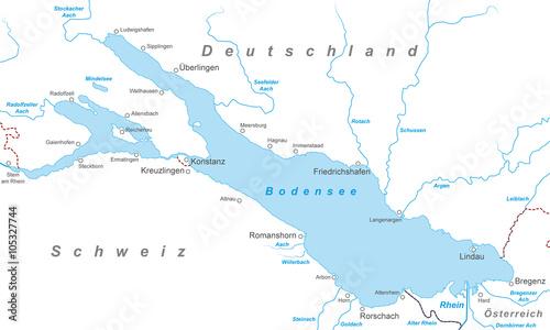 Der bodensee karte in wei stockfotos und lizenzfreie for Bodensee karte
