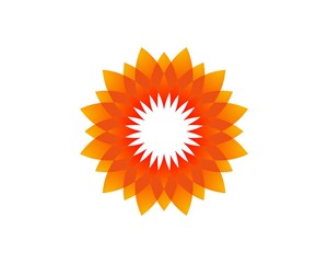 Orange Sunflower Logo