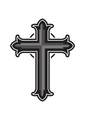 Religious christian  cross design on white background.