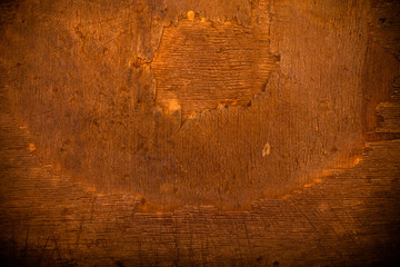 The surface of old cutting board for background. Toned
