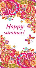 Decorative summery banner