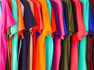 colorful of T-shirt cotton textile