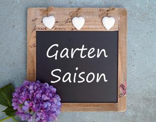 Garten Saison - Kreidetafel