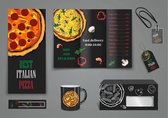 pizza food menu cafe brochure