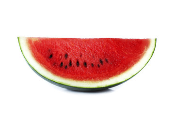 Slice of watermelon isolate on white background