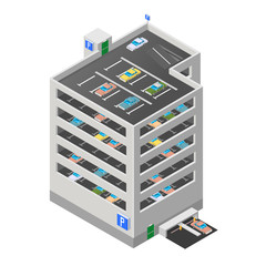 Vector illustration of a multi story car park