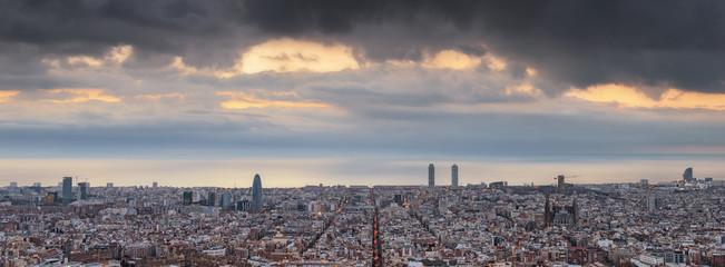 Barcelona skyline, Catalonia, Spain
