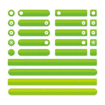 グリーンボタン メニューボタンセット