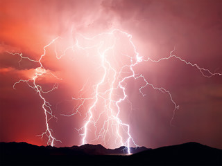 Lightning storm, Arizona, America, USA