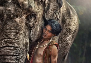 Mahout man With Elephant