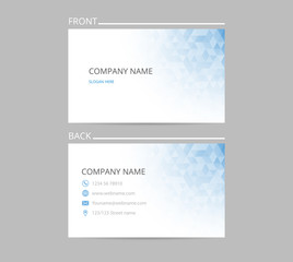 Business card isolated, polygonal design. Template creative cards layout. Vector illustration.