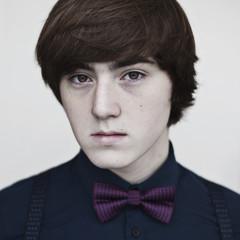 Portrait of a boy wearing a bow tie
