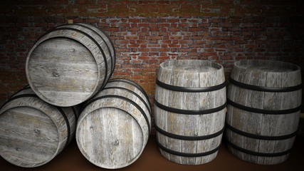 Five barrels in basement