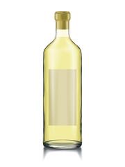 Mock-up Glass Bottle Wine Change Color liquid, Bottle, Cap