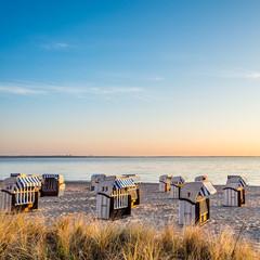 Sonnenaufgang Strandkörbe Timmendorfer Strand Ostsee