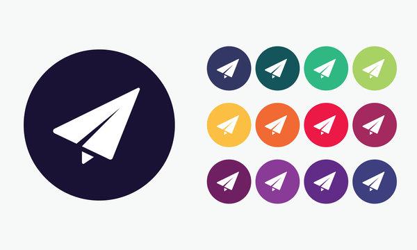 Vector set send icon.