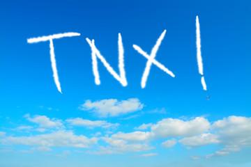 tnx written in the sky