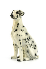 Statuette of dog  isolated on white background
