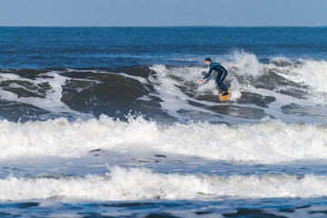 Autocollant pour porte Nautique motorise Surfing the waves