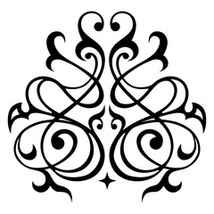 Decorative element traditional eastern ornament. Traditional vector pattern.