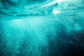 underwater sea bubbles background