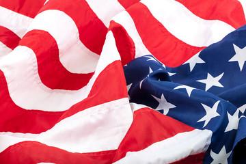 American flag as a backdrop