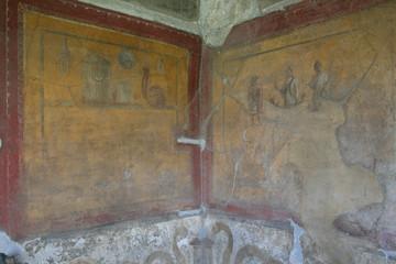 Pompeii fresco. Naples (Italy)