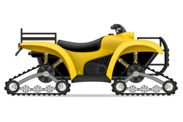 atv motorcycle on four tracks off roads vector illustration