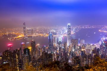 Hongkong skyline from victoria peak