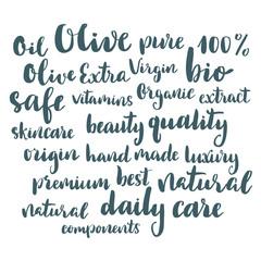 Olive lettering set.