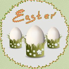 Easter. Easter eggs.