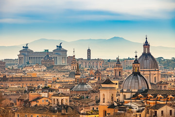 Papiers peints Rome View of Rome from Castel Sant'Angelo