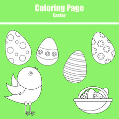 Coloring page. Easter