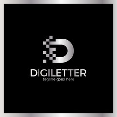 Business corporate letter D logo