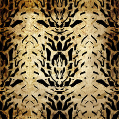Tiger wild skin leather grunge pattern background