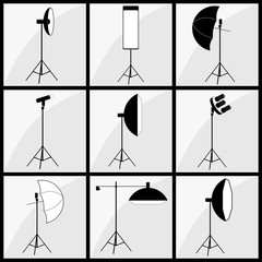 photographer studio lighting set