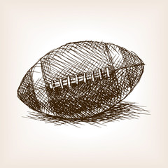 Football ball hand drawn sketch style vector