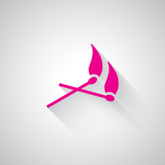 Pink Matches web icon on light grey background
