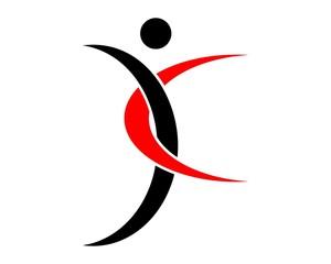 Dance swing logo